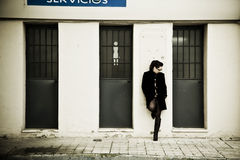Waiting woman Royalty Free Stock Photography