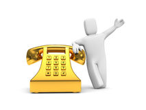 Waiting your calls Stock Images