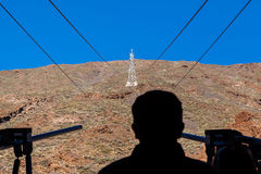 Waiting for your turn - cable car. Teide. Royalty Free Stock Photos