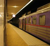 Waitng for departure. Train waiting for departure at underground station Royalty Free Stock Image