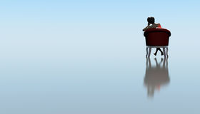 Waitng alone in a chair Royalty Free Stock Photography