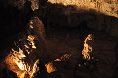 Waitomo caves. Stalagmites in the Waitomo caves, New Zealand Stock Image