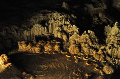 Waitomo caves. Stalagmites in the Waitomo caves, New Zealand stock photos