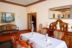 WAITOMO, NZ - FEBRUARY 24, 2015: Classically charming dining room in Waitomo Caves Hotel Stock Image
