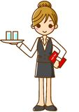Waitress. This is an illustration of a waitress Stock Images