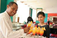 The waitress royalty free stock photos