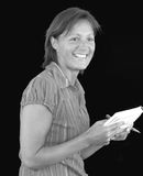 Waitress. Or mum with her shopping list Stock Images