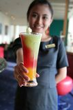 Waitress And Juice Royalty Free Stock Images