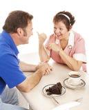 Waitress Chats with Customer Royalty Free Stock Image