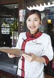 Waitress in Chinese style Royalty Free Stock Photos