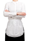 Waitress crossed arms Stock Images