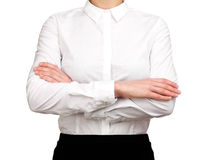 Waitress crossed arms Royalty Free Stock Photo