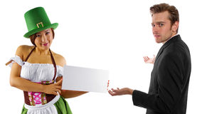 Waitress and Customer Royalty Free Stock Image