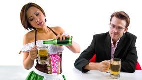 Waitress and Customer Royalty Free Stock Photography