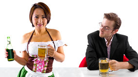 Waitress and Customer Stock Photography
