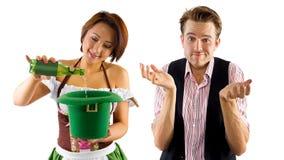 Waitress and Customer Royalty Free Stock Image