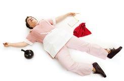 Waitress Dead Tired Stock Image