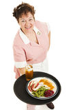 Waitress - Dinner For One Stock Image