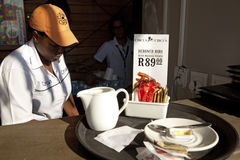 A waitress in Durban Royalty Free Stock Images