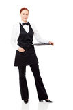Waitress full length Stock Image