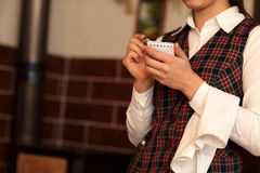 Waitress getting order Royalty Free Stock Photo