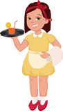 Waitress girl Stock Image