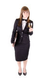 Waitress with a glass of wine (2) Royalty Free Stock Images