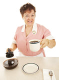 Waitress - Have a Cup of Joe stock image