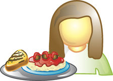 Waitress Icon Stock Images