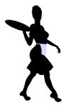 Waitress Illustration Silhouette Royalty Free Stock Images