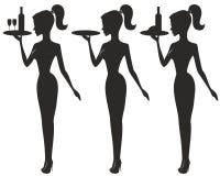 Waitress logo Stock Image
