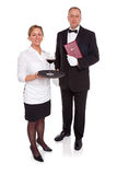 Waitress and Maitre D Royalty Free Stock Image