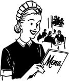 Waitress With Menu Stock Image