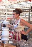 Waitress of Oktoberfest Stock Images