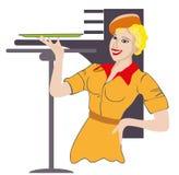 Waitress. Profession. Stock Image