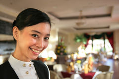 Waitress or restaurant staff Royalty Free Stock Photo