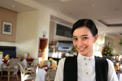 Waitress or restaurant staff Royalty Free Stock Image