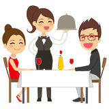 Waitress Serving Restaurant Royalty Free Stock Image