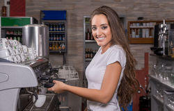 Waitress smiling Royalty Free Stock Photos