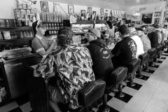 Waitress takes breakfast order at Peggy Sue's Americana Route 66 inspired diner in Yermo, California about eight miles outside of  Royalty Free Stock Photography
