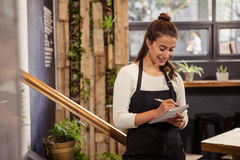 A waitress is taking the order Royalty Free Stock Image
