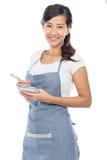 Waitress taking an order Royalty Free Stock Image