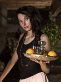 Waitress with tequila Stock Photos