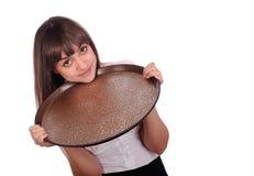 Waitress with tray Stock Photos