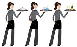 Waitress Royalty Free Stock Images