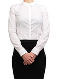 Waitress waiting to serve customers Royalty Free Stock Images