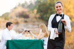 Waitress Wine Customers Stock Images