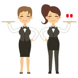 Waitress Woman Working Stock Images