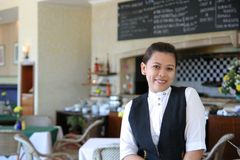 Waitress at work Royalty Free Stock Image