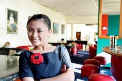 Waitress at work stock photos